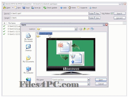 Batch PPTX and PPSX Converter Free Download