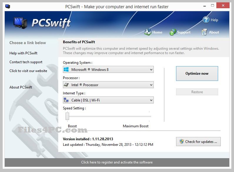 PGWare PCSwift Serial Key Free Download