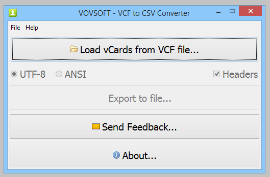 VovSoft VCF to CSV Converter Free Download