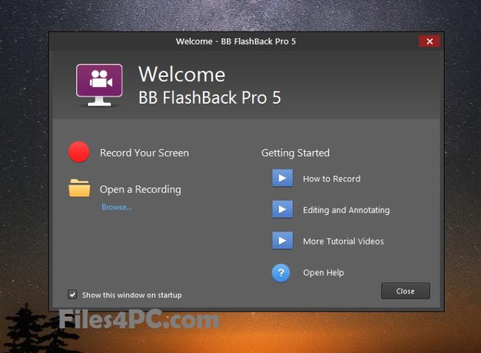 BB FlashBack Pro Full Version Interface