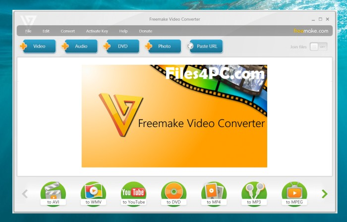 Freemake Video Converter Full Version Download Interface