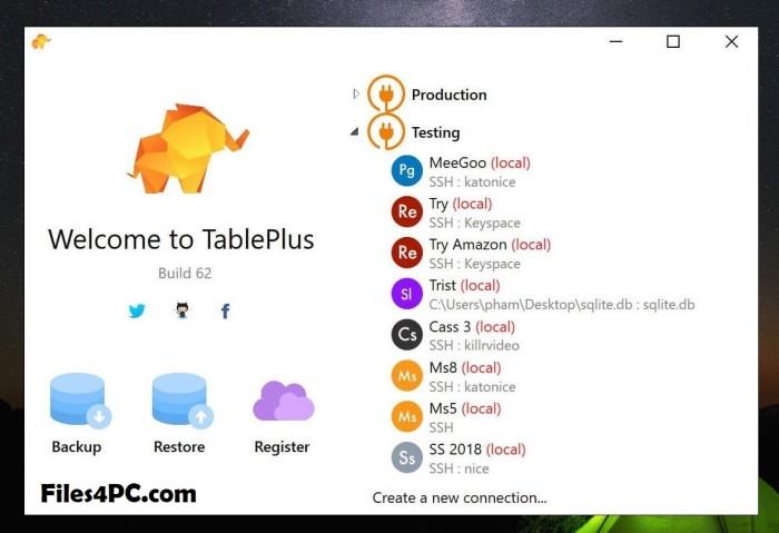 TablePlus Full Version Interface