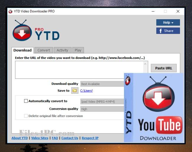 YTD Video Downloader Pro Full Version Interface