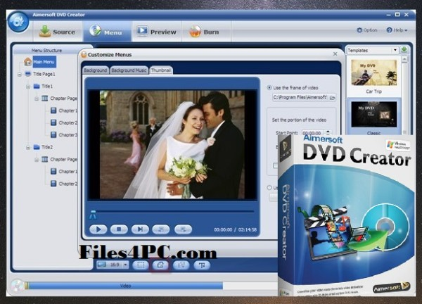 Aimersoft DVD Creator Full Version Interface