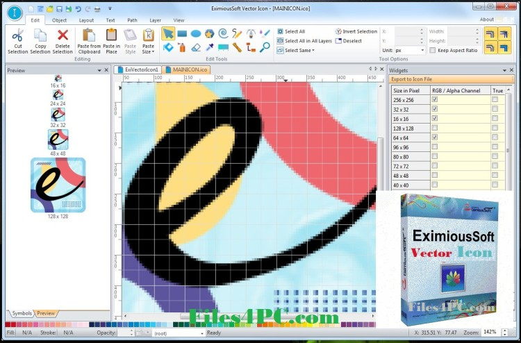 EximiousSoft Vector Icon Full Version Interface