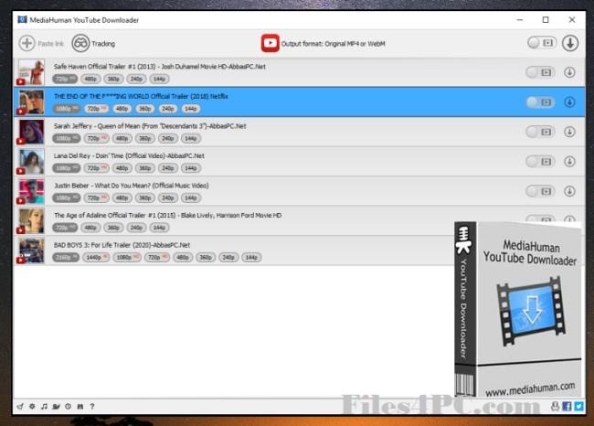 MediaHuman YouTube Downloader Full Version Interface