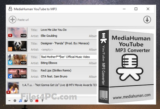 MediaHuman YouTube To MP3 Converter Full Version Interface