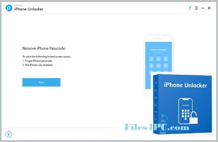PassFab iPhone Unlocker Full Version Interface