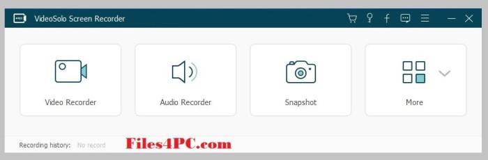 VideoSolo Screen Recorder Full Version Interface