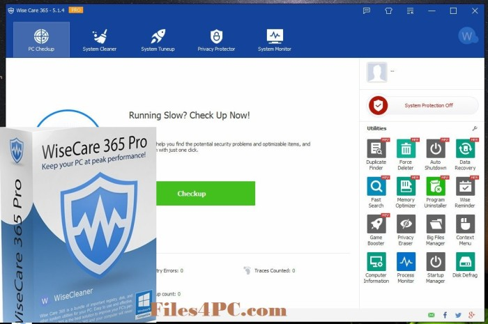 Wise Care 365 Pro Full Version Interface