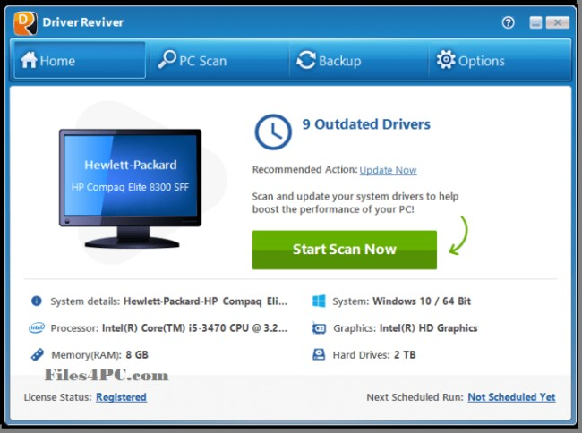 Driver Reviver Full Version Interface