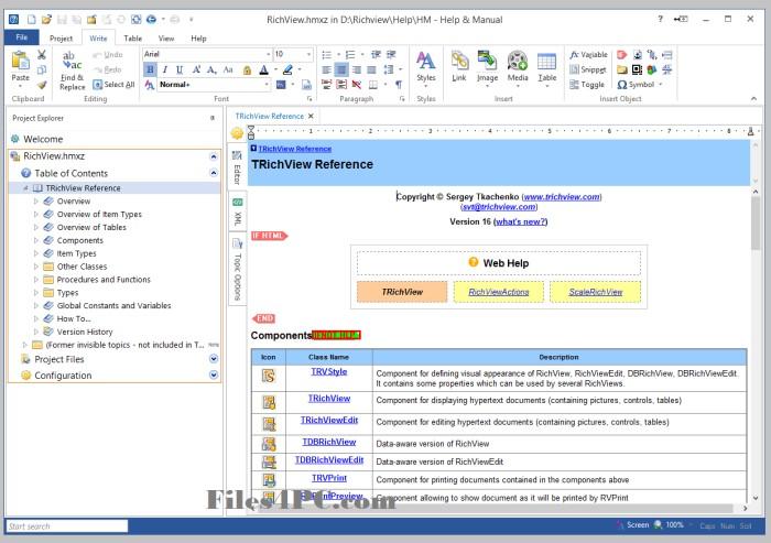 Help & Manual 8.2.0 Full Version Interface