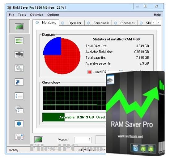 RAM Saver Pro Full Verizon Interface